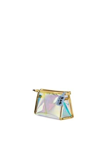 Bagmori  Kadın Hologram Şeffaf Makyaj Çantası M000006247 Altın